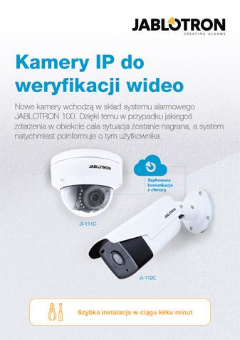Ulotka dla instalatora - kamery IP do weryfikacji wideo w systemie JA-100
